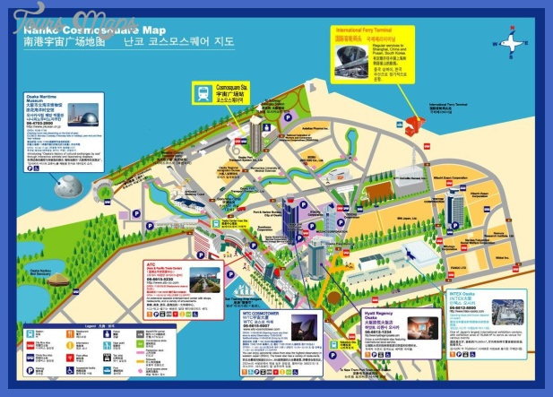 osaka tourist map 3 Baltimore Map Tourist Attractions
