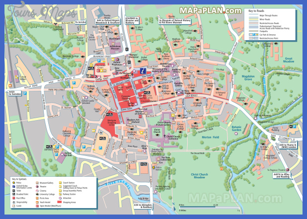 oxford top tourist attractions map 01 city centre detailed street travel plan with must see places sights landmarks to visit high resolution Birmingham Map Tourist Attractions
