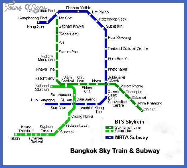 Bangkok Subway Map - Map - Travel - Holiday - Vacations