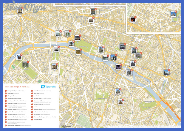paris attractions map large 1 France Map Tourist Attractions
