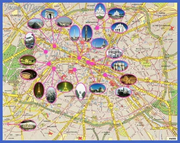France Map Tourist Attractions ToursMapsCom – Paris Tourist Attractions Map