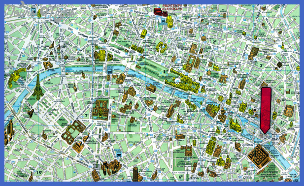 paris france tourist map 4 France Map Tourist Attractions