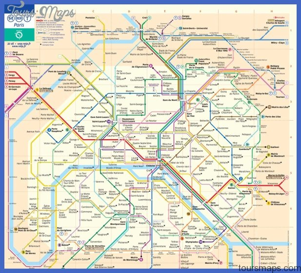 paris metro map France Metro Map