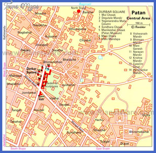 patan lalitpur kathmandu valley map Nepal Map Tourist Attractions