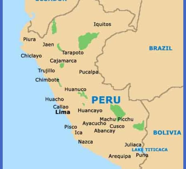 Lima Map Tourist Attractions ToursMapsCom – Peru Tourist Attractions Map