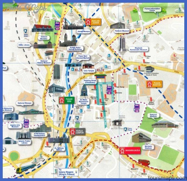 petaling street map Malaysia Map Tourist Attractions