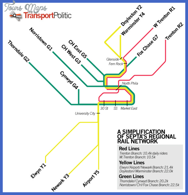 Philadelphia Subway Map  Map  Travel  Holiday  Vacations