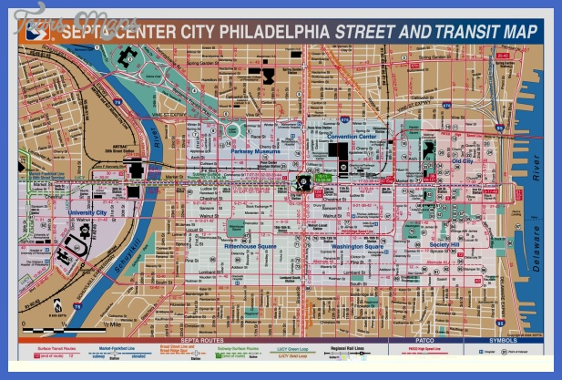 philadelphia tourist map 3 Baltimore Map Tourist Attractions