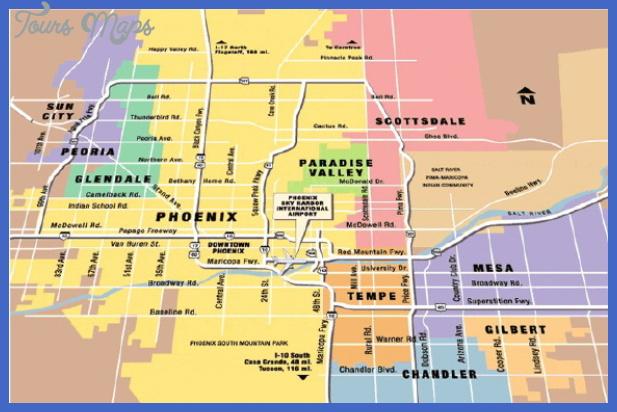 phoenix airport map Scottsdale Subway Map