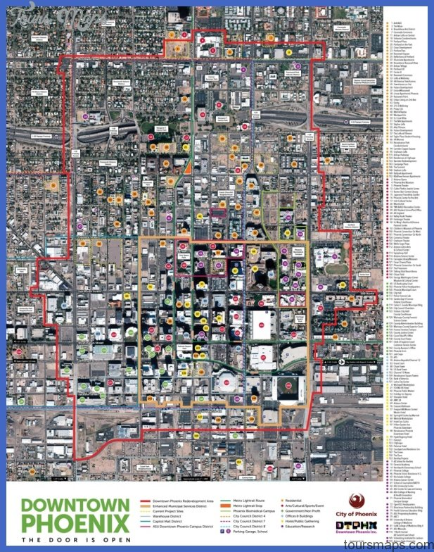 phoenix tourist attractions map max Jacksonville Map Tourist Attractions