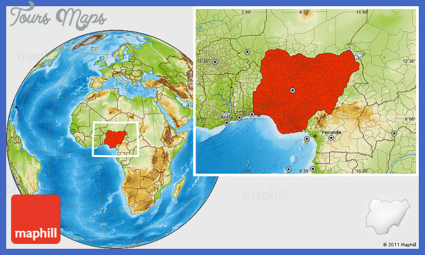 physical location map of nigeria Nigeria Metro Map