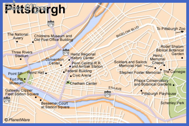 pittsburgh map Pittsburgh Map Tourist Attractions