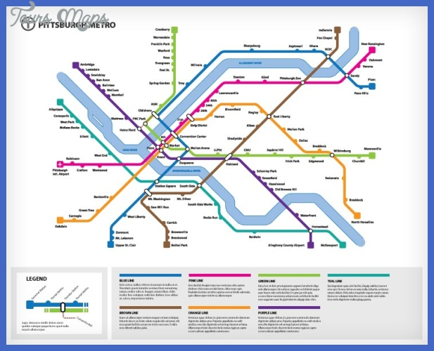 Pittsburgh Subway Map   ToursMaps.®