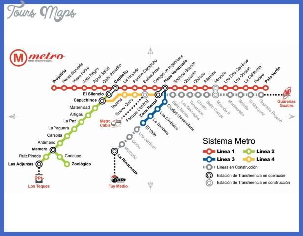 plan metro caracas Venezuela Metro Map