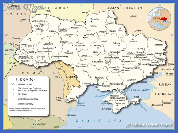 political administrative map Ukraine Map