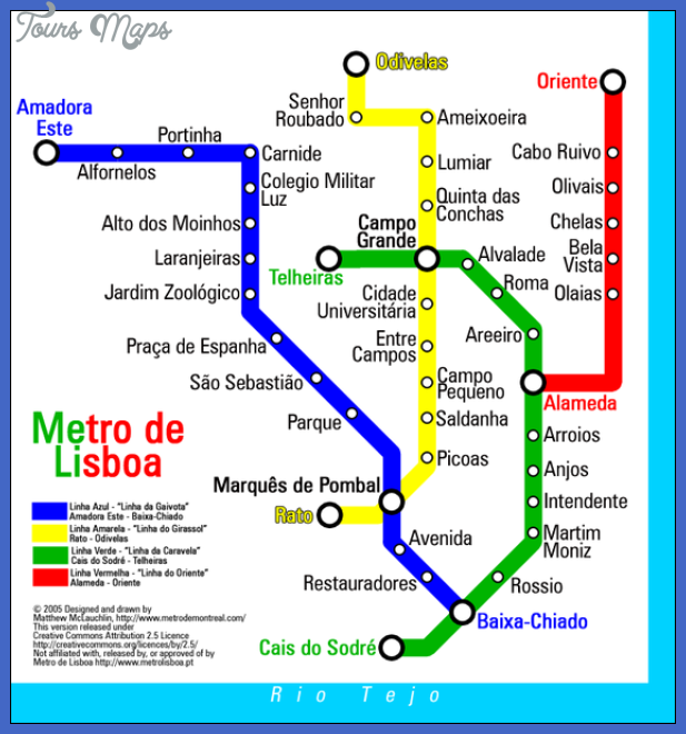 Portugal Metro Map Map Travel Holiday Vacations - Portugal map metro