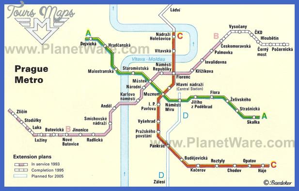 Czech Republic Subway Map Toursmaps Com