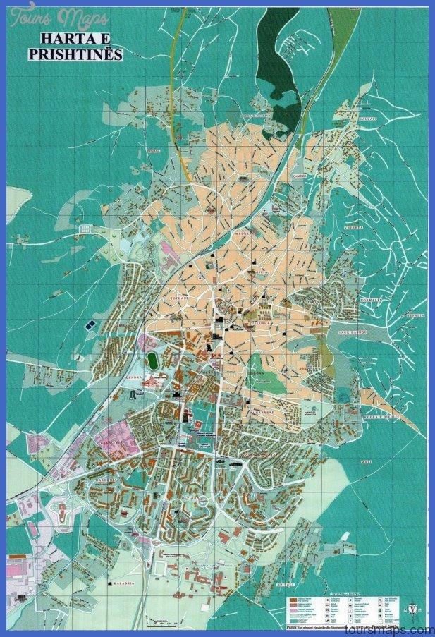 pristina tourist map Serbia Map Tourist Attractions