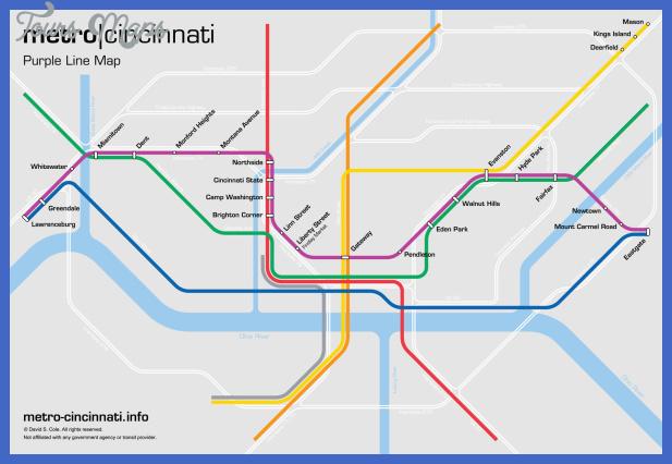 purple line Cincinnati Metro Map