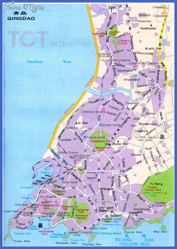 Qingdao Map Tourist Attractions Toursmaps Com