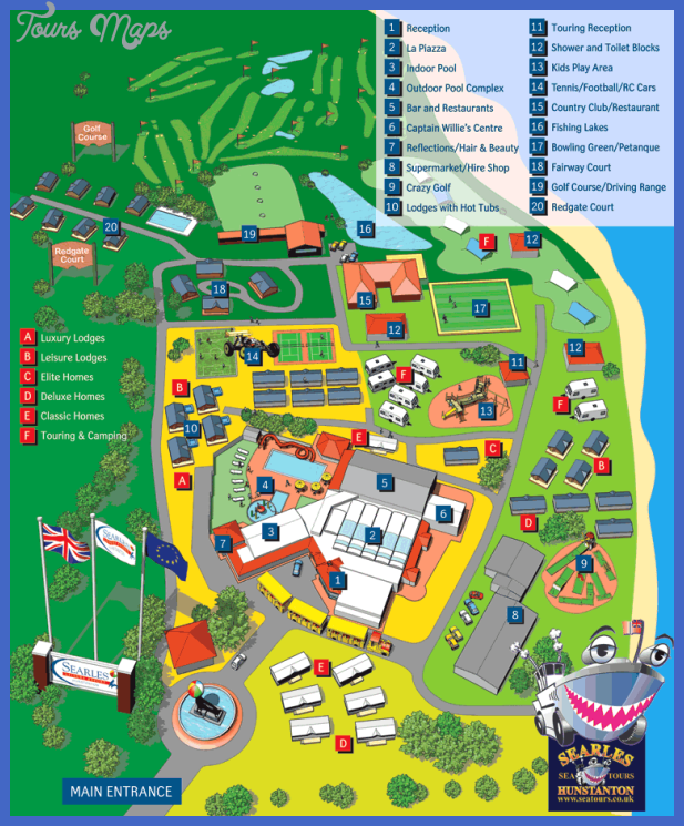 resortmap Norfolk Map Tourist Attractions