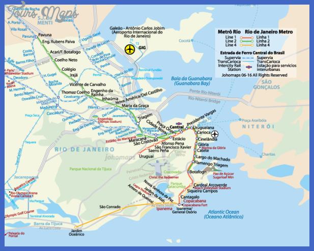 riometro 1 Rio de Janeiro Metro Map