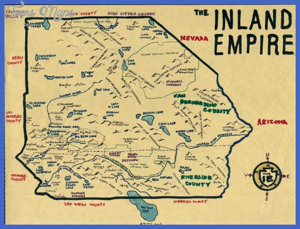 riversidesan bernardino map tourist attractions  3 Riverside San Bernardino Map Tourist Attractions