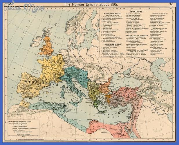 roman empire 395 Rome Map