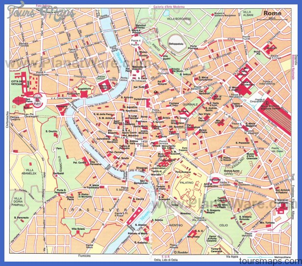 rome map Rome Map Tourist Attractions