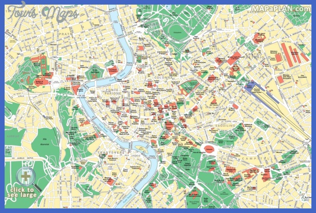 rome top tourist attractions map 02 central rome interesting places to visit things to do map Rome Map Tourist Attractions