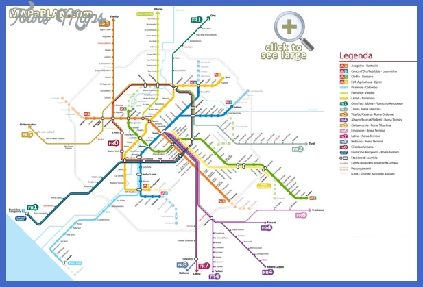 Italy Metro Map ToursMapsCom – Map Of Rome Showing Tourist Attractions