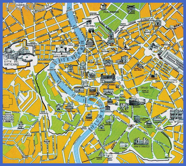 rome map 2 Rome Map Tourist Attractions