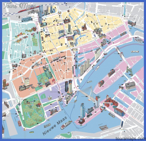 rotterdam map big Netherlands Metro Map