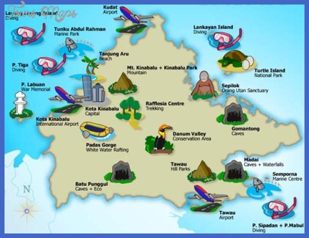 Malaysia Map Tourist Attractions ToursMapsCom – Malaysia Tourist Attractions Map