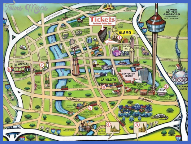san antonio map tourist attractions  10 San Antonio Map Tourist Attractions