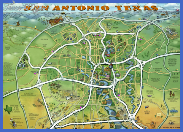 san antonio map tourist attractions  9 San Antonio Map Tourist Attractions
