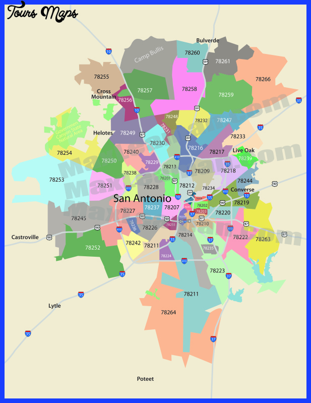 san antonio metro map  9 San Antonio Metro Map