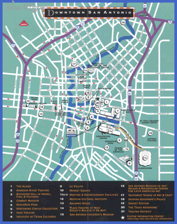 Austin Map Tourist Attractions ToursMapsCom – Austin Tx Tourist Attractions Map