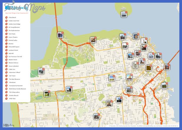 san francisco attractions map large San Antonio Map Tourist Attractions