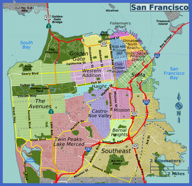 san francisco map  0 San Francisco Map