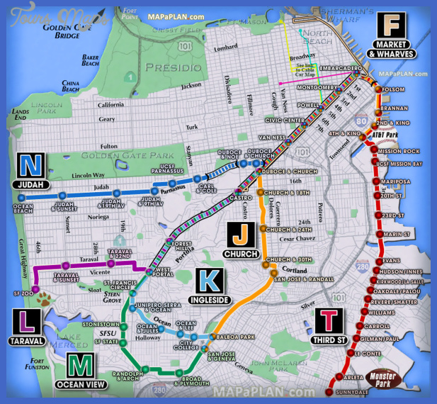 San FranciscoOakland Map Tourist Attractions ToursMapsCom – Top Tourist Attractions Map In San Francisco