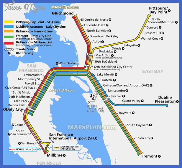 San FranciscoOakland Map Tourist Attractions ToursMapsCom – Tourist Attractions In San Francisco Map