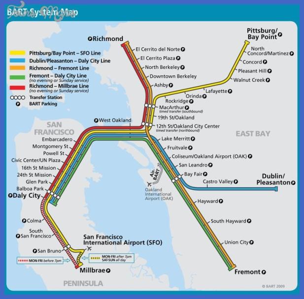 san franciscooakland subway map  2 San Francisco Oakland Subway Map