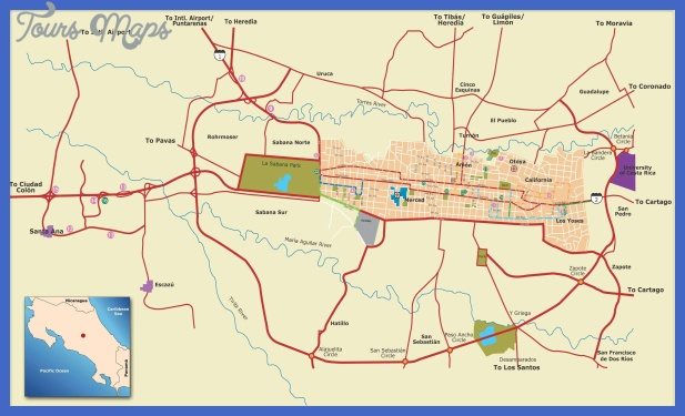 San Jose Map Tourist Attractions ToursMapsCom – Tourist Attractions Map In San Jose