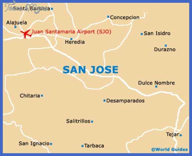 san jose costa rica map San Jose Map Tourist Attractions