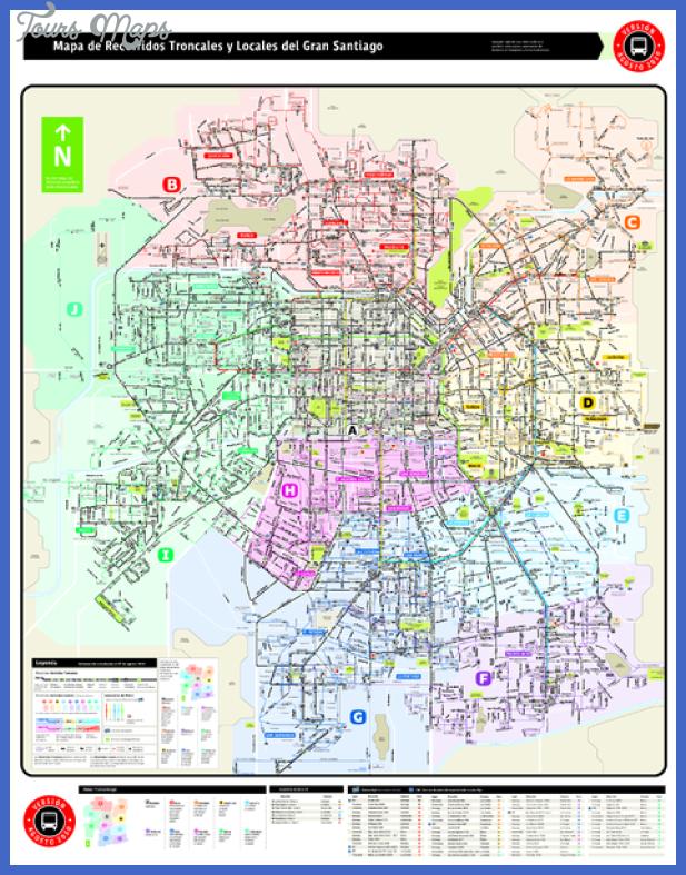 Santiago Metro Map Toursmaps Com
