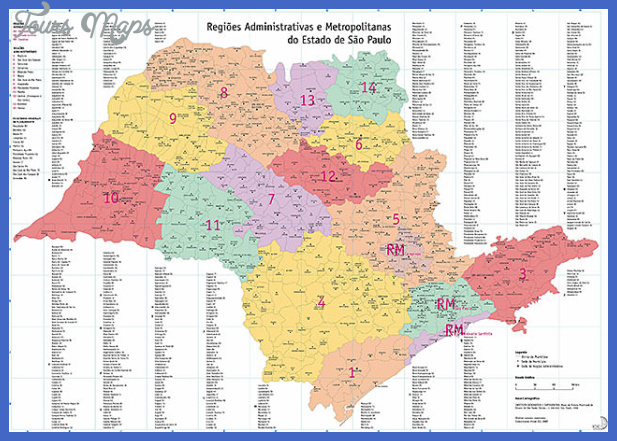 sao paulo state map Campinas Map Tourist Attractions