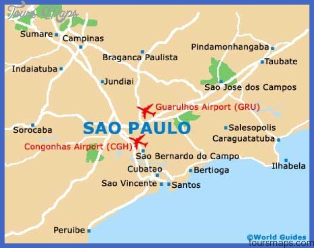 Sao Paulo Map Tourist Attractions - ToursMaps.com ®