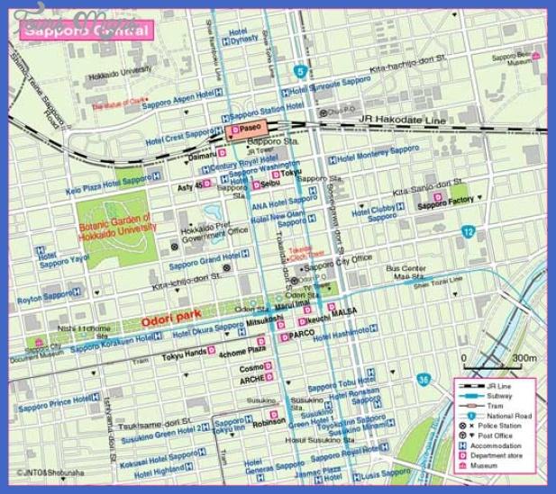 sapporo map3 Sapporo Map