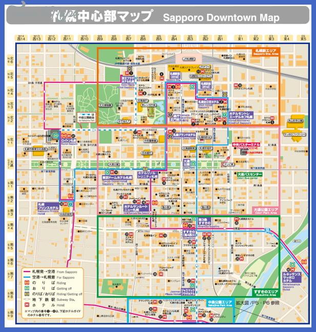 sapporo map Sapporo Map